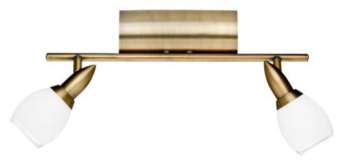 Wofi Deckenspot Mauro 2-flammig, messing-gefärbt, Länge ca. 40 cm, Höhe ca. 22 cm 7301.02.02.0000