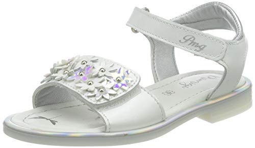 PRIMIGI Damen Sandalo Bambina Peeptoe Sandalen, Weiß (Bianco 5439522), 37 EU