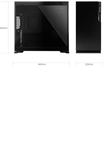 In Win 101C Midi-Tower Black computer case - computer cases (Midi-Tower, PC, Acrylonitrile butadiene styrene (ABS), SECC, Tempered glass, ATX,Micro-ATX,Mini-ITX, Black, Front)