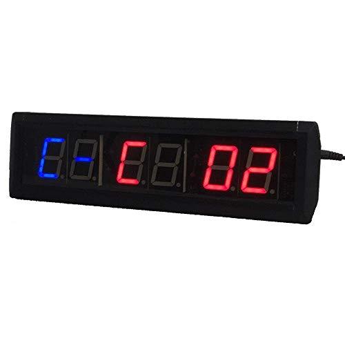 Shelf Temporizador de gimnasio LED Cuenta regresiva Digital Condep Pared Reloj de pared Temporizador Temporizador Temporizador de aptitud Cronómetro para gimnasio Muro de pared Reloj despertador (Colo