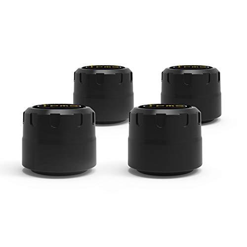 WHEEJE C01 Bluetooth 5.0 Sistema de Monitor de presión de neumáticos para automóviles con 4 sensores para la Alarma de monitoreo de Aplicaciones de teléfono móvil Android de iOS