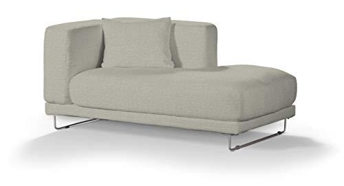Dekoria Tylösand Recamiere rechts Sofabezug Sofahusse passend für IKEA Modell Nikkala grau-beige