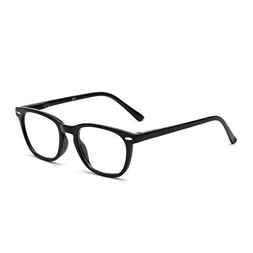 Retro Lesebrille Federscharnier Schwarz Leser Damen Herren Brillen zum Lesen +1.25