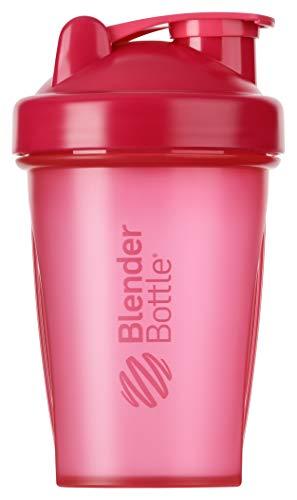BlenderBottle Classic Botella de agua | Botella mezcladora de batidos de proteínas | con batidor Blenderball | libre de BPA | 590ml - Pink