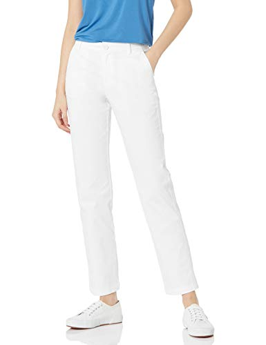 Amazon Essentials Women's Stretch Twill Chino Pant (Available in Straight and Curvy Fits), Bright White, 16