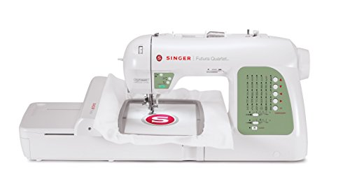 SINGER Futura XL400 Portable Sewing and125 Embroidery Design Machine including 30 BuiltIn Stitches,...