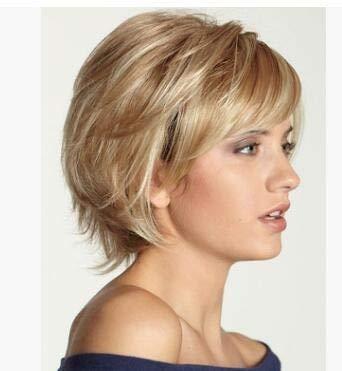 DNOQN Brasilianisch Bob Perücke Menschliches Haar 12 Zoll 130% Dichte Gerade Remy Hair Short Bob Wig Extensions Lace Front