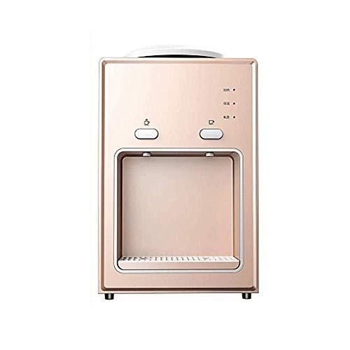Mini dispensador de agua de escritorio caliente y caliente Dispensador de agua eléctrica Encimera de encimera y calefacción vertical for oficina doméstica (rosa)