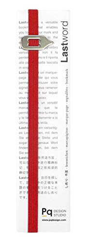 Lastword Bookmarks - Elastic bookmark Perfect for Any Book - book markers for women - bookmarks for men - bookmarks for kids - Don't Lose Your Mark, Design Made in Italy book marks (Red)