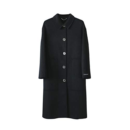 KgByy Womens Jas Trench Jas Wol Jas Vrouwen Mode Jassen Trench Jas Vrouwen Winter Warm Wol Blend Womens Button XS ~ M