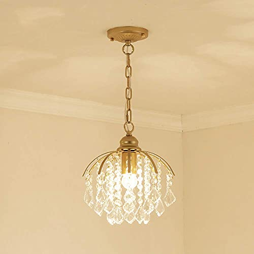 luz Colgante, Chandelier Acrylic Ball Droplet Pendant Light E27 Luz de Techo Pantalla Lámpara Claro para el Restaurante del Dormitorio 1 Lámpara/Diámetro: 28 cm/Sugerencia Tamaño de la habitación: