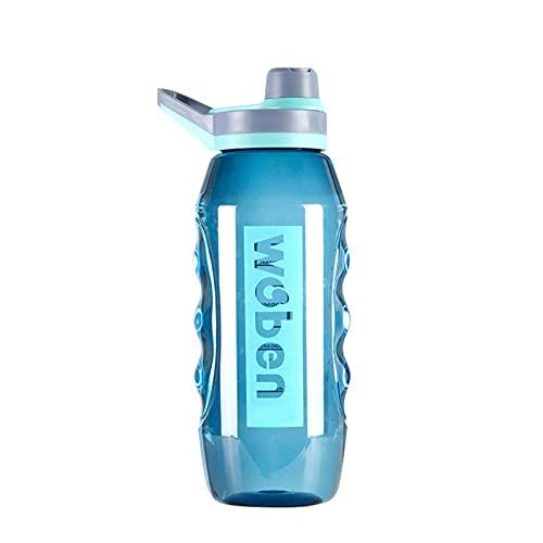 Botella de agua deportiva de gran capacidad de 34/55 oz de boca ancha portátil Big Bottle a prueba de fugas tazas de viaje con correa de escamas