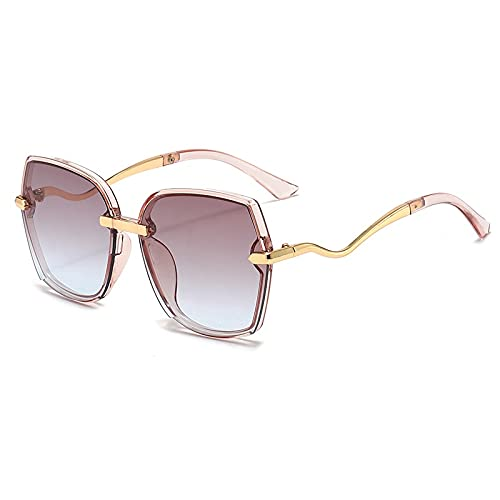 AMFG Gafas de sol metálicas Gradient Color Stitching Hombres y gafas de sol for mujer Viaje al aire libre Espejo de sombreado (Color : C)
