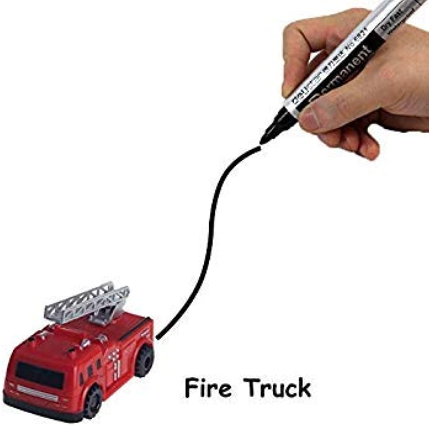 Magical Track Toys inductive Tank car Model car Following by line You Draw Mini Vehicle Intelligence Development Kid's Toy FSWOB Fire Truck