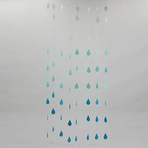ZDYS Raindrop Garland, Paper Raindrops, Raindrop Paper Garland, Nursery Decor, April Showers, Spring Garland, Raindrop Baby Shower