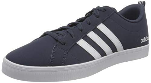 adidas Men's Vs Pace Gymnastics Shoe, Trace Blue Footwear White Core Black, 9 UK