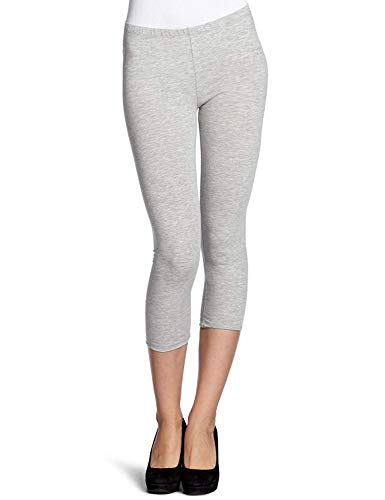 ONLY Damen Onllive Love New 3/4 NOOS Leggings, Grau (Light Grey Melange), 42 (Herstellergröße: XL)
