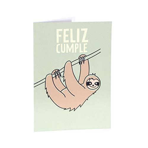 Milimetrado 104453 Postal de Cumpleaños - Dodo, Perezoso, Alpaca Paca - Tarjeta de felicitación de...
