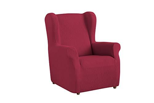 Textil-home Stretchhusse für Ohrensessel TEIDE, 1 Sitzer - 70 a 100Cm. Farbe Rot
