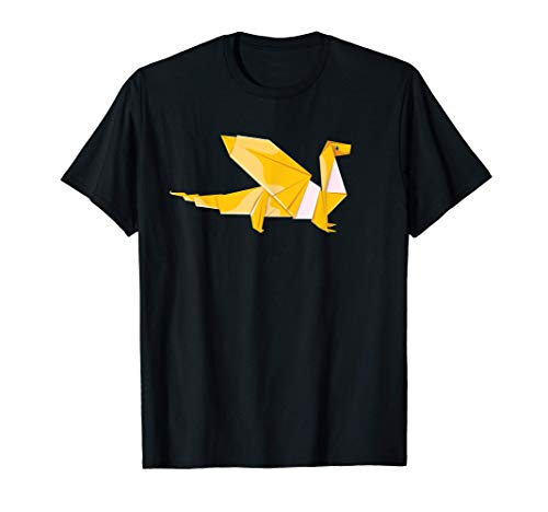 Dragones plegables de papel de origami Camiseta