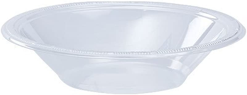 Hanna K Signature Collection 100 Count Plastic Bowl 12 Ounce Clear