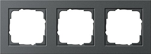 Gira 21323 Rahmen E2 3-fach anthrazit, 021323