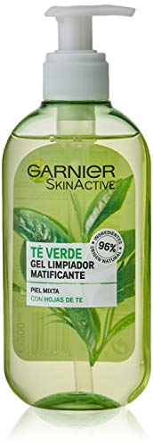 Garnier SkinActive Gel Limpiador con Hoja de Té Verde - 200 ml