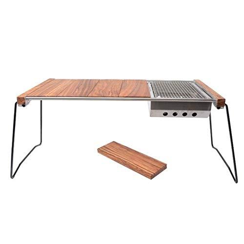 31Mkm0OX7fL - Klappbarer Camping-Tisch Tragbarer Picknicktisch Ebenholz Kombinierter Multifunktions-Klapptisch mit Aufbewahrungstasche für Catering Camping Trestle Picknickgarten Patio BBQ Party Lili