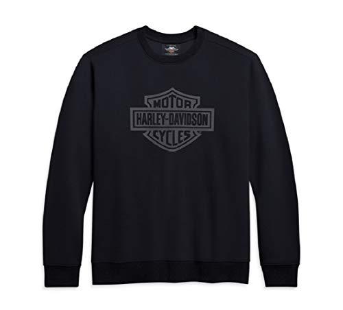 HARLEY-DAVIDSON Herren Sweatshirt Pullover Sweater Rundhals Aufdruck Schlank Bwl, XL