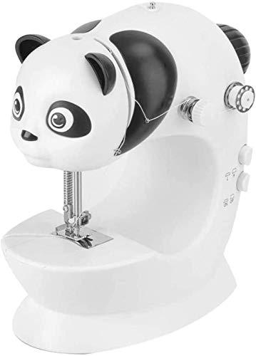 JWCN Elektrische Nähmaschine Einfach zu bedienen für Anfänger Verstellbare 2-Gang-Doppelgewindeschneidemaschine mit Lichtern für Stoffkleidung Kindertuch Uptodate