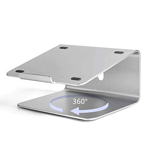 Notebook Stand Laptop Ständer Laptopständer Laptop Cooling Ständer, 360-Grad drehbarer Kühlrost, Aluminiumlegierung drehbare Basis Universal Storage Bracket Universale Laptop Halterung
