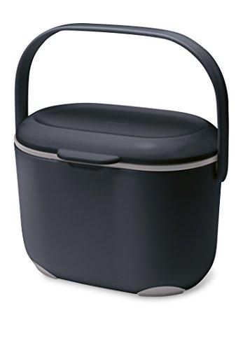 Addis - Contenitore da Cucina per Compost, 2,5 l, Colore: Nero/Grigio
