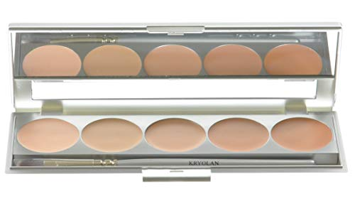 Kryolan HD Micro Foundation Cache Palette 5 colores 19015 TNN Maquillaje
