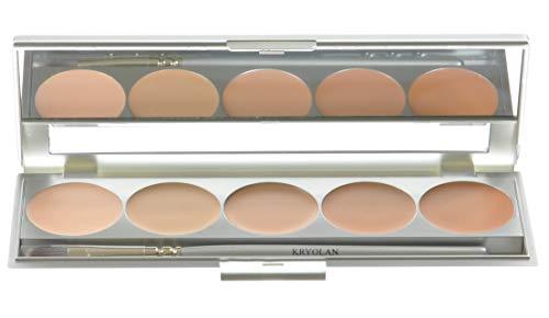 Kryolan HD Micro Foundation Caché Paleta 5 Colores 19015 TNN Maquillaje