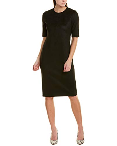 Anne Klein Women's Suede Scuba Sheath Dress, Anne Black, 6