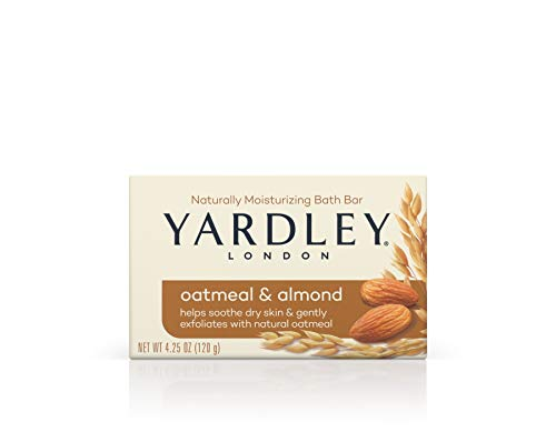 Yardley Oatmeal and Almond Bar Soap, Oatmeal & Almond, 4.25 Ounce