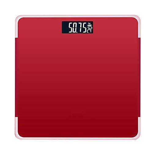 XSHIYQ 180 kg Badezimmer Körperfettwaage Digitale Waage für Menschen Boden-LCD-Display Körperindex Elektronische intelligente Waage 26 * 25 * 2,5 cm Rot