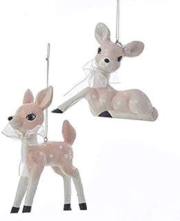 Home Décor Kurt Adler Pale Pink Baby Reindeer Fawn Christmas Tree Ornament-Set of 2