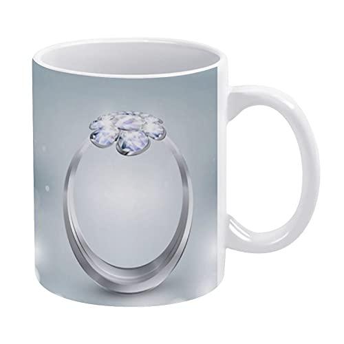 Divertidas tazas de cumpleaños para hombres y mujeres, con anillo-fondo brillante, las mejores tazas de café de cerámica para aniversario, taza de té para él, ella, amigos, 11 oz