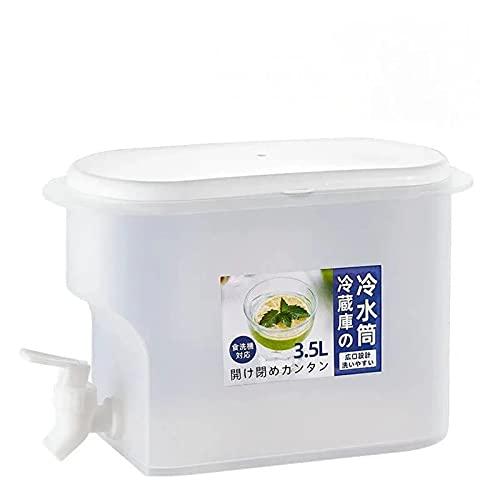 Jarra de agua de 3500 ml con grifo Jarra de jugo de limón,recipiente de botella de agua fría Jarra resistente al calor para fiestas al aire libre y uso diario (1pcs)
