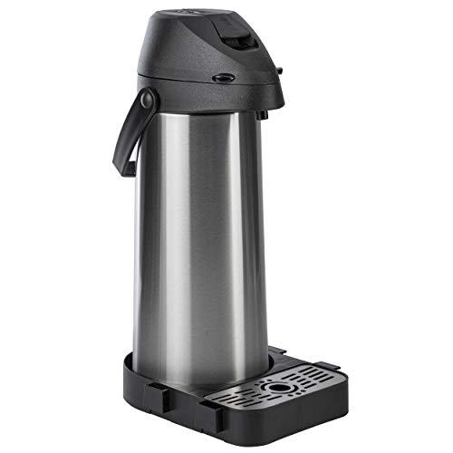 ONVAYA® Airpot Pumpkanne   Isolierkanne   Thermoskanne   Getränkespender   Edelstahl mattiert   Kaffeekanne   Doppelwandig (1,8 Liter + Tropfschale)