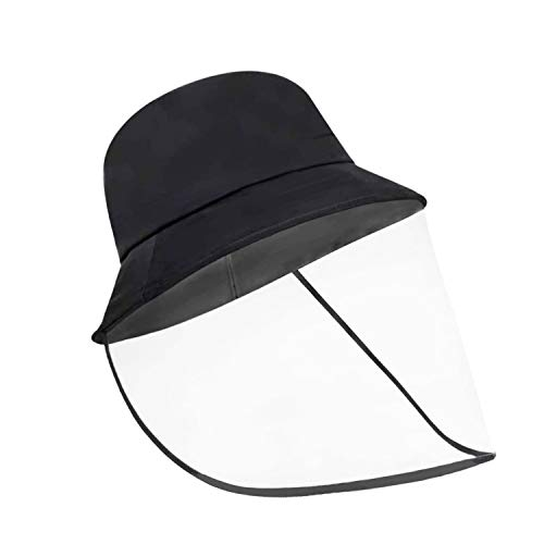 PINGKO Protective Hat Face Shield Bucket Hat Fisherman Hat Perfect Neutral Hat Reusable Summer Hat Transparent Detachable Outdoor Bucket Hat Versatile Removable Sun Hats UPF 30+ for Men and Women