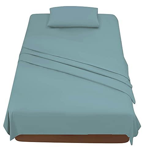 Juego de sábanas de una plaza y media, material microfibra, juego completo de sábanas para cama de 120 x 200 cm, sábana encimera de 180 x 280 cm, 1 funda de almohada de 50 x 80 cm
