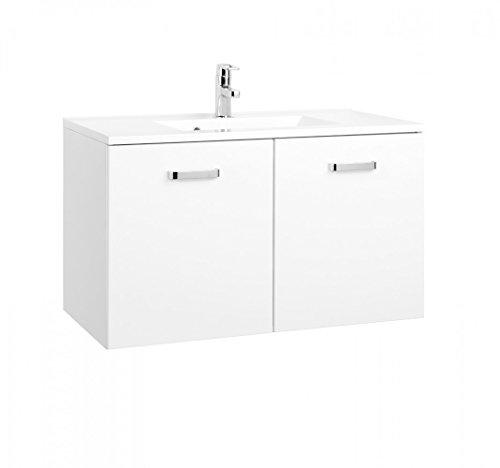 Held Möbel Bolgona Waschtisch, Holzwerkstoff, Weiß, 48 x 90 x 54 cm