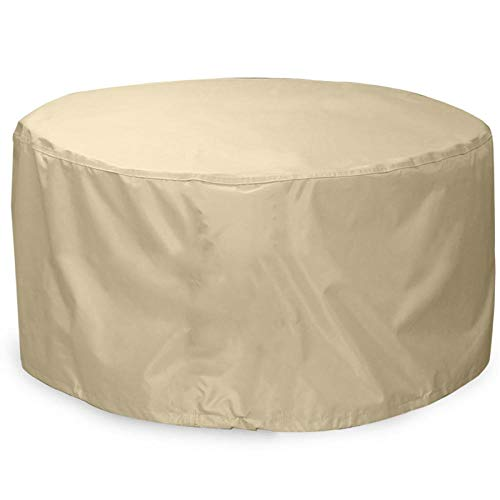 SlimpleStudio Waterproof Windproof & Anti-UV Patio Table Cover,Patio sunshade furniture cover courtyard terrace rainproof round table cover outdoor wind and dustproof round table cover-91x58cm