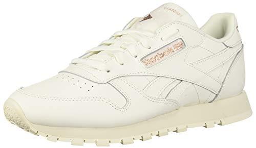 Reebok Damen Classic Leather Turnschuh, Kreide/Roségold/Papier Weiß, 40 EU
