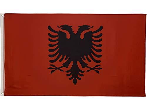 FlagScout - Albanien Flagge | 90 x 150 cm | Flaggen mit top Qualität, hochwertiger Verarbeitung und kräftigen Farben