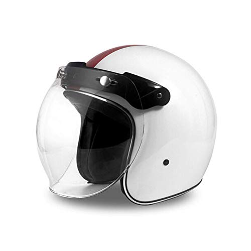YSH Casco Harley Casco Moto Moto Vintage Casco Jet Capacetes De Motociclista...