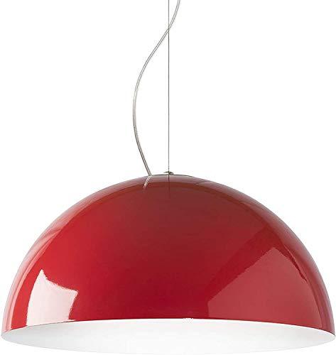 Lampada a sospensione moderna in metallo E27, Diametro 40cm - 60cm, (Rosso/Bianco, 60cm)