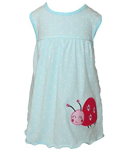 T-Shirt Grösse 62/68 Modell 12 Pastell blau Mädchen Kleid ohne Ärmel Urlaub Strand Sommer
